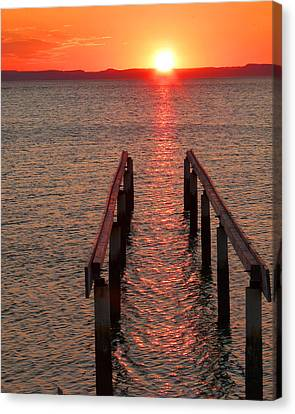 Canvas Print featuring the photograph Walkway To The Sun by Alan Socolik