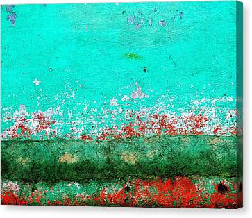 Canvas Print featuring the digital art Wall Abstract 111 by Maria Huntley