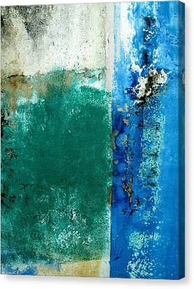 Canvas Print featuring the digital art Wall Abstract 159 by Maria Huntley