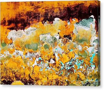Canvas Print featuring the digital art Wall Abstract 28 by Maria Huntley