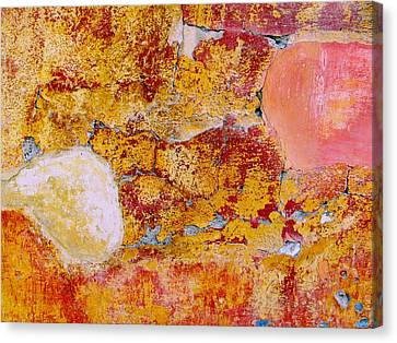 Canvas Print featuring the digital art Wall Abstract 3 by Maria Huntley