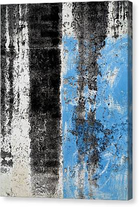 Canvas Print featuring the digital art Wall Abstract 34 by Maria Huntley