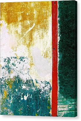 Canvas Print featuring the digital art Wall Abstract 71 by Maria Huntley
