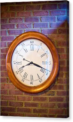 Wall Clock 1 Canvas Print by Douglas Barnett