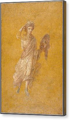 Wall Fragment Of A Muse, 1-75 Ad  Canvas Print by Roman School