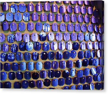 Wall Of Blue Canvas Print by Anna Villarreal Garbis