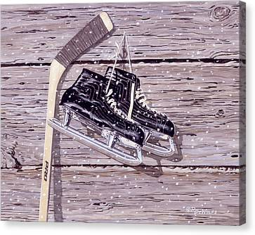 Skates Canvas Print - Wall Of Fame by Richard De Wolfe