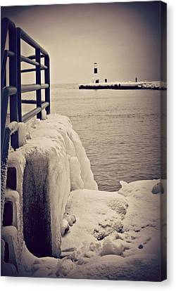Icy Canvas Print - Wall Of Ice by Dawdy Imagery
