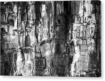 Canvas Print featuring the photograph Wall Of Rock by Miroslava Jurcik