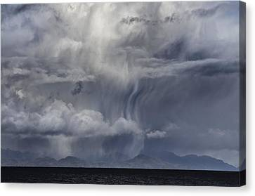 Wall Of Weather Canvas Print by Darryl Luscombe