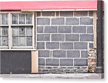 Block Quilts Canvas Print - Wall Repair by Tom Gowanlock