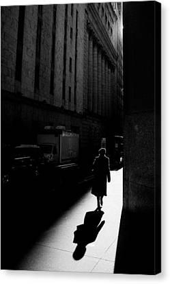 Wall Street In New York City Canvas Print by Ilker Goksen