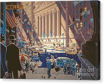 Wall Street Canvas Print by Michael Young