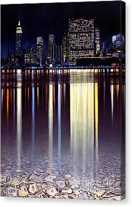 Wall Street Canvas Print by Miki Karni