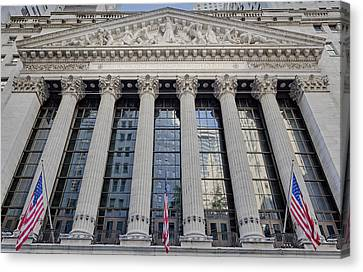 Wall Street New York Stock Exchange Nyse  Canvas Print by Susan Candelario