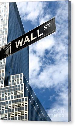 Wall Street Street Sign New York City Canvas Print by Amy Cicconi