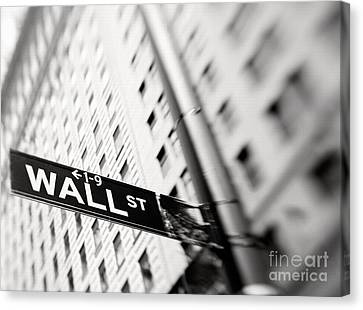Wall Street Street Sign Canvas Print by Tony Cordoza