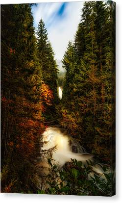 Wallace Fall North Fork Canvas Print by James Heckt