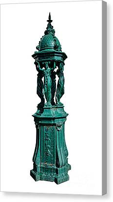 Caryatids Canvas Print - Wallace Fountain  by Olivier Le Queinec