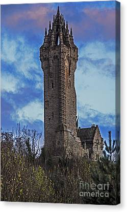 Wallace Monument During Sunset Canvas Print