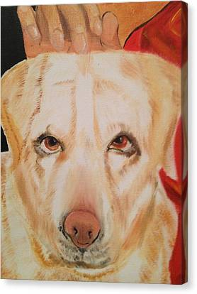 Canvas Print featuring the painting Walle by Brindha Naveen