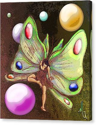 Wallflower Fairy Canvas Print by Michelle Rene Goodhew