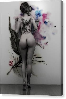 Wallflower Canvas Print by Maynard Ellis