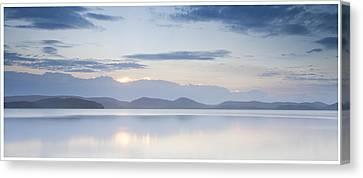 Wallis Lake Sunset Canvas Print by Steve Caldwell