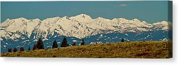 Wallowa Mountains Oregon Canvas Print by Ed  Riche
