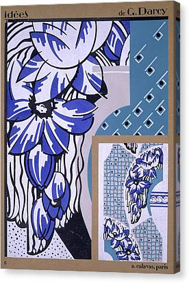 Wallpaper Design, From Idees, Published Canvas Print by Georges Darcy