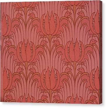 Wallpaper Design Canvas Print by Victorian Voysey