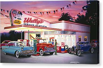 Wallys Service Station Canvas Print by Bruce Kaiser