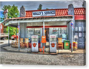 Wally's Service Station Canvas Print by Dan Stone