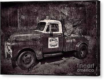 Wally's Towing Bw Canvas Print by David Arment