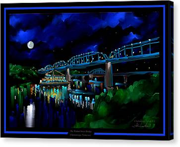 Walnut Street Bridge - Chattanooga Landmark Series - # 1 Canvas Print