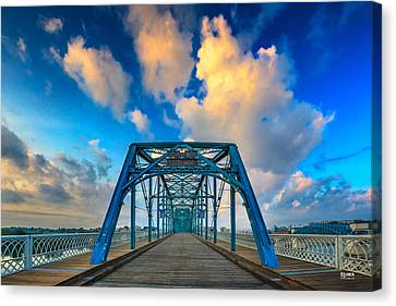 Walnut Street Walking Bridge Canvas Print by Steven Llorca