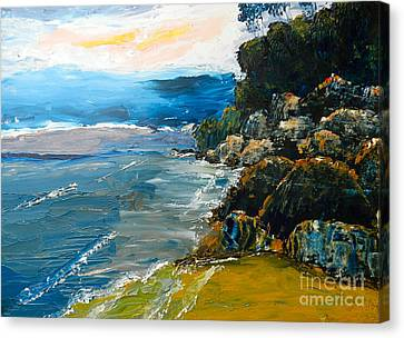 Walomwolla Beach Canvas Print by Pamela  Meredith