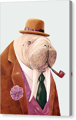 Walrus Canvas Print by Animal Crew