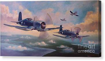 Canvas Print featuring the painting Walsh's Flight by Stephen Roberson