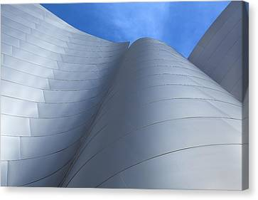 Canvas Print featuring the photograph Walt Disney Concert Hall Architecture Los Angeles California Abstract by Ram Vasudev