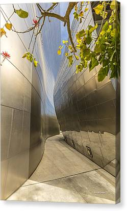 Walt Disney Concert Hall Scenery Canvas Print by Angela A Stanton