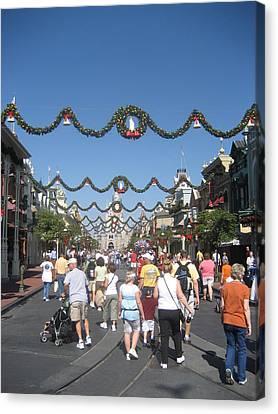 Walt Disney World Resort - Magic Kingdom - 1212128 Canvas Print by DC Photographer
