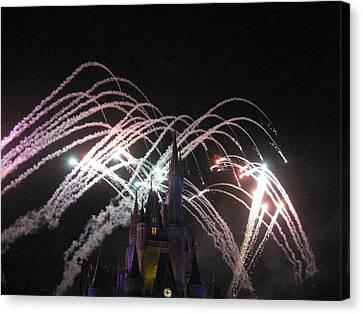 Walt Disney World Resort - Magic Kingdom - 121263 Canvas Print by DC Photographer