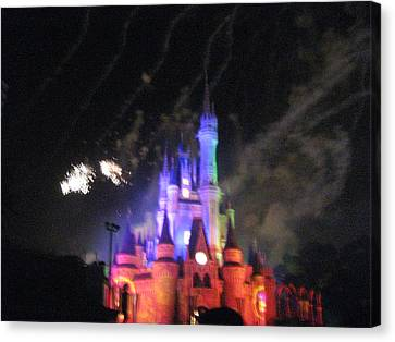 Walt Disney World Resort - Magic Kingdom - 121273 Canvas Print by DC Photographer