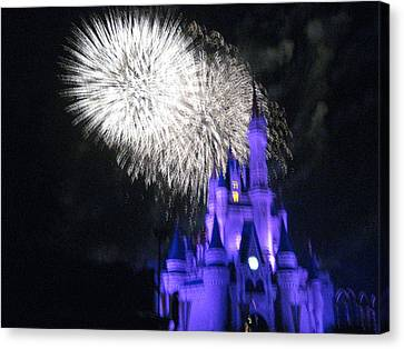 Walt Disney World Resort - Magic Kingdom - 121279 Canvas Print by DC Photographer
