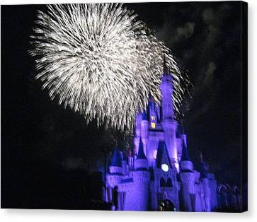 Walt Disney World Resort - Magic Kingdom - 121280 Canvas Print by DC Photographer