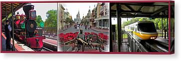 Walt Disney World Transportation 3 Panel Composite 02 Canvas Print by Thomas Woolworth