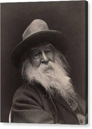 Walt Whitman 1886 Canvas Print
