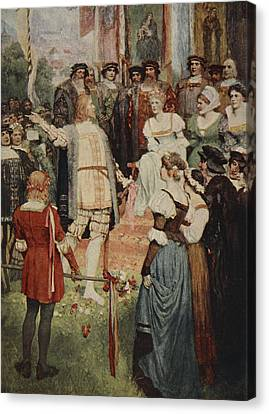 Walter Began His Song, From The Stories Canvas Print by Ferdinand Leeke