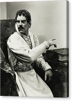 Shakespeare Canvas Print - Walter Huston As Othello by Lusha Nelson